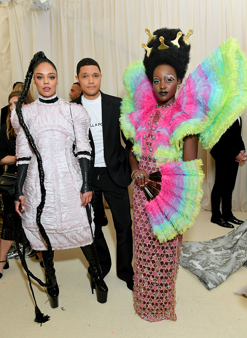 Tessa Thompson Trevor Noah And Lupita Nyong O Attend The