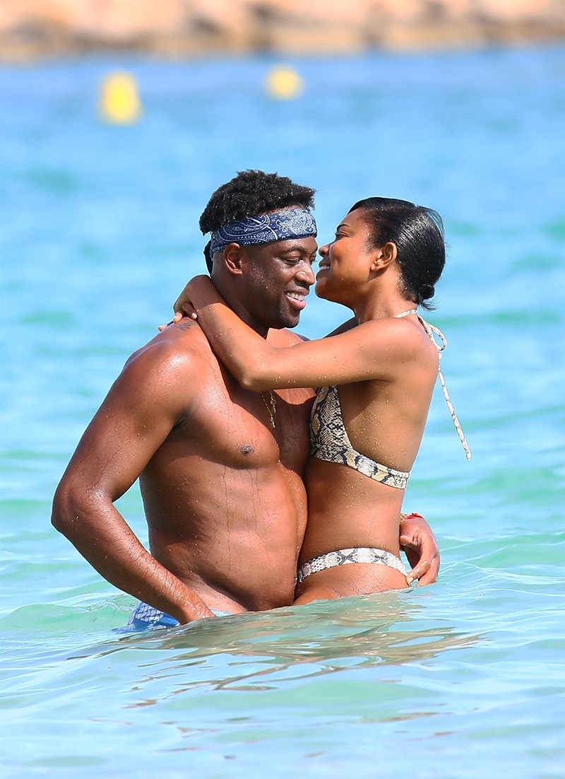 newly retired nba star  dwayne wade and actress wife