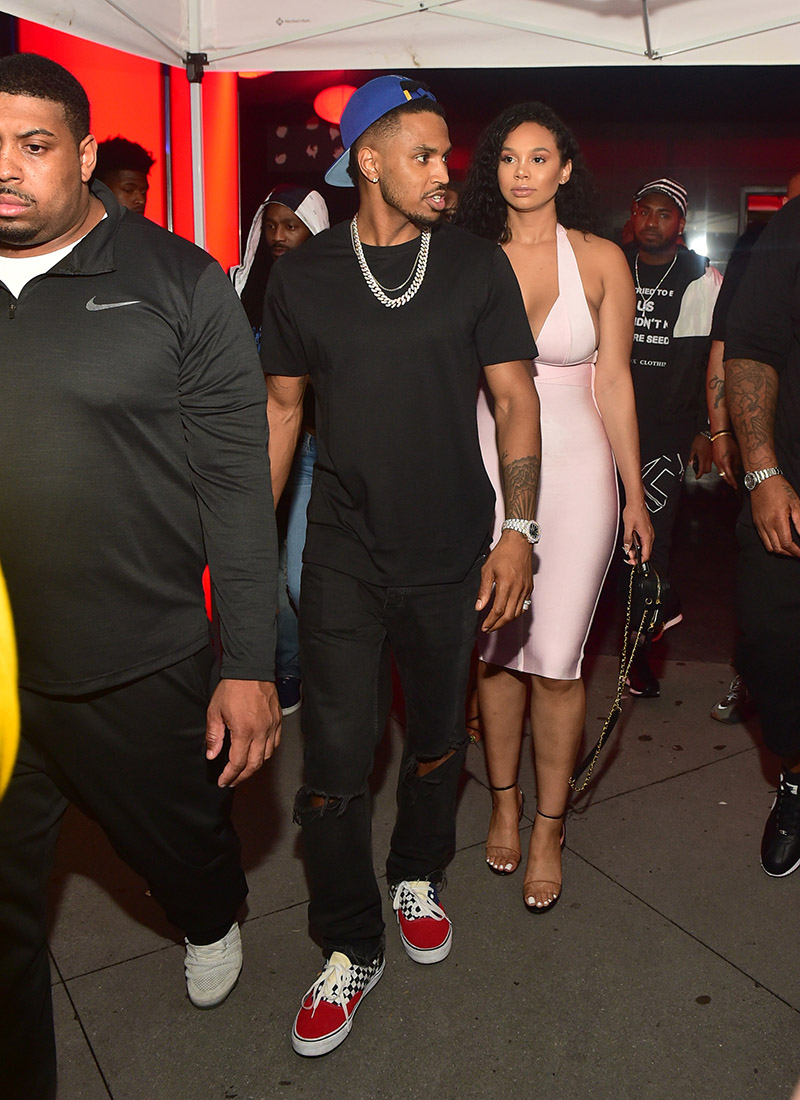 Trey Songz Attends Compound 15 Year Anniversary