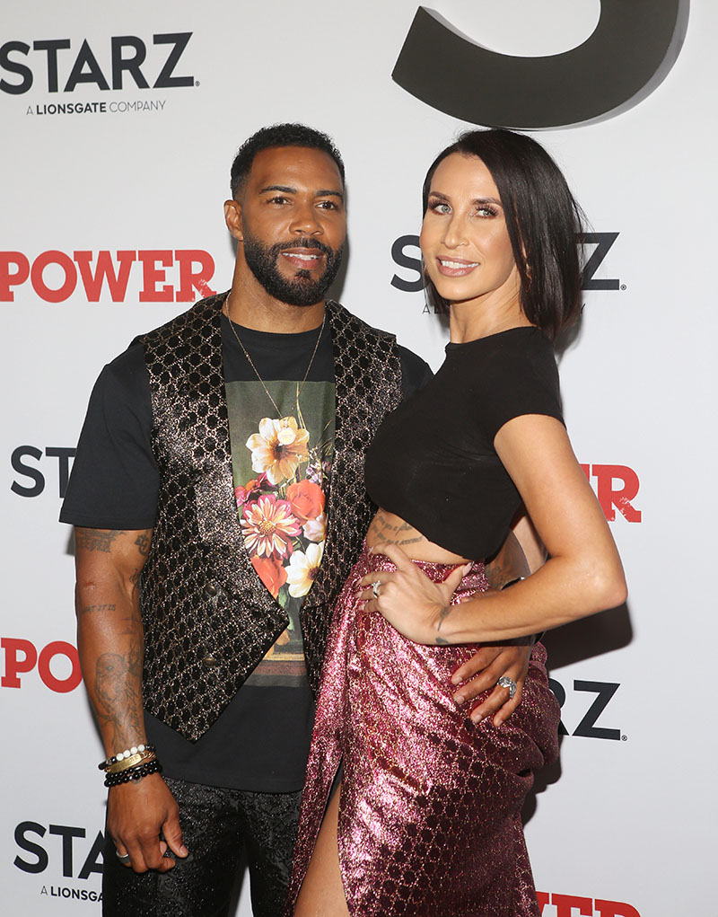 Omari Hardwick And His Wife Jennifer Pfautch Attend Power