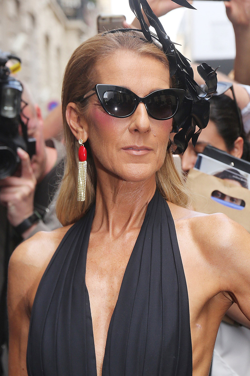 Celine Dion attends Schiaparelli Runway Show at Paris ...