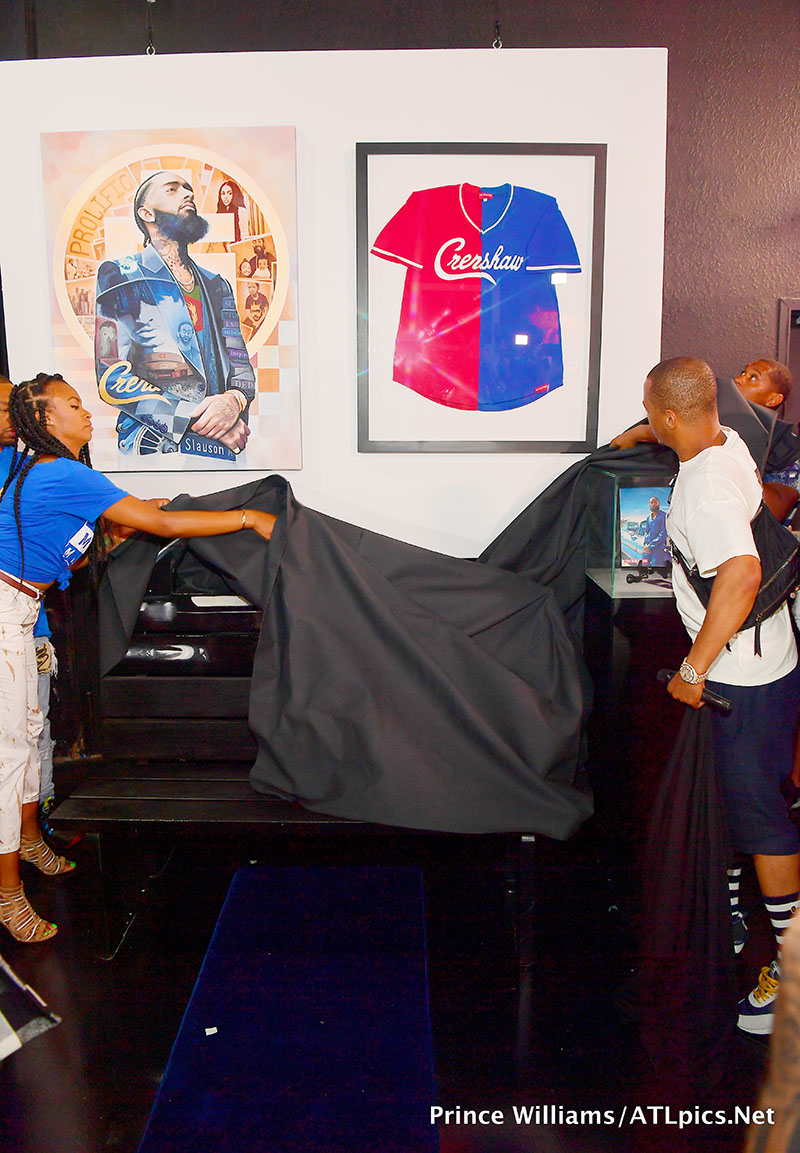 PICS: T I  Hosts Unveiling of Nipsey Hussle Exhibit at Trap