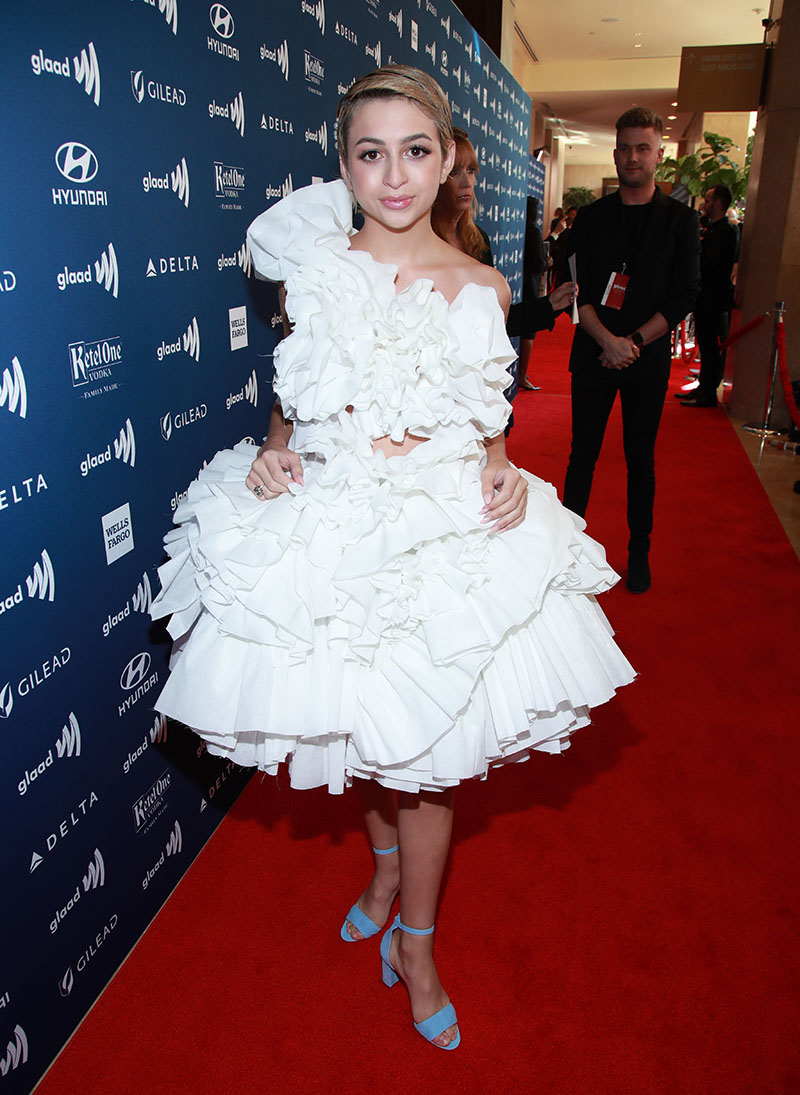 Josie Totah attends the 30th Annual GLAAD Media Awards Los Angeles at The Beverly Hilton Hotel ...