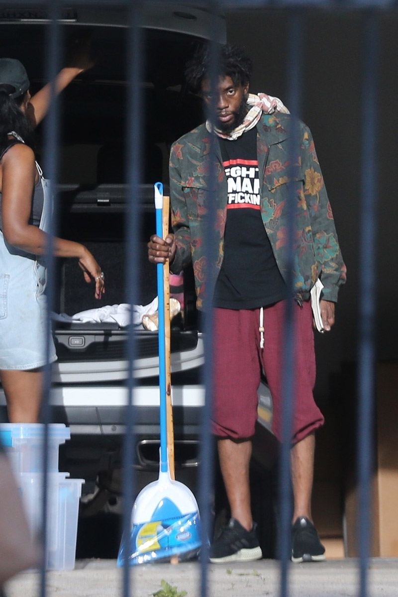 Exclusive Chadwick Boseman Shows Off His Dramatic Weight Loss Sandra Rose